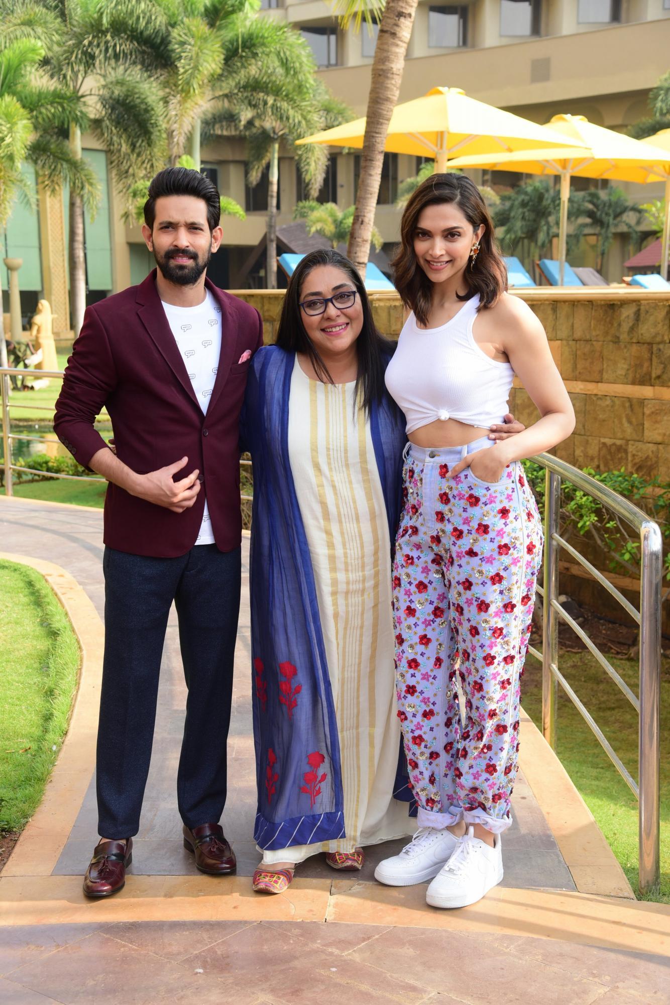 Vikrant Massey, Meghna Gulzar and Deepika Padukone in Chhapaak