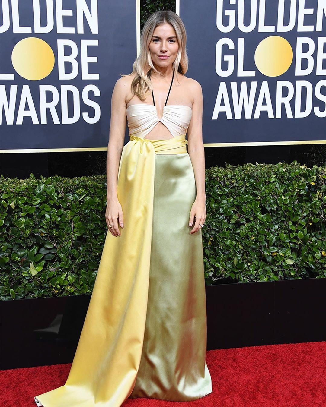 Sienna Miller at the Golden Globe Red Carpet