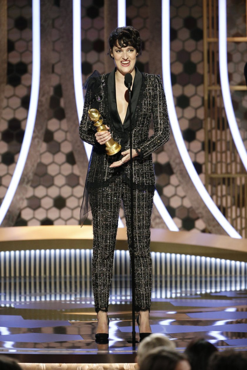Phoebe WallerBridge accepts the award for Best TV Series Musical or Comedy for Fleabag at the 77th Annual Golden Globe Awards