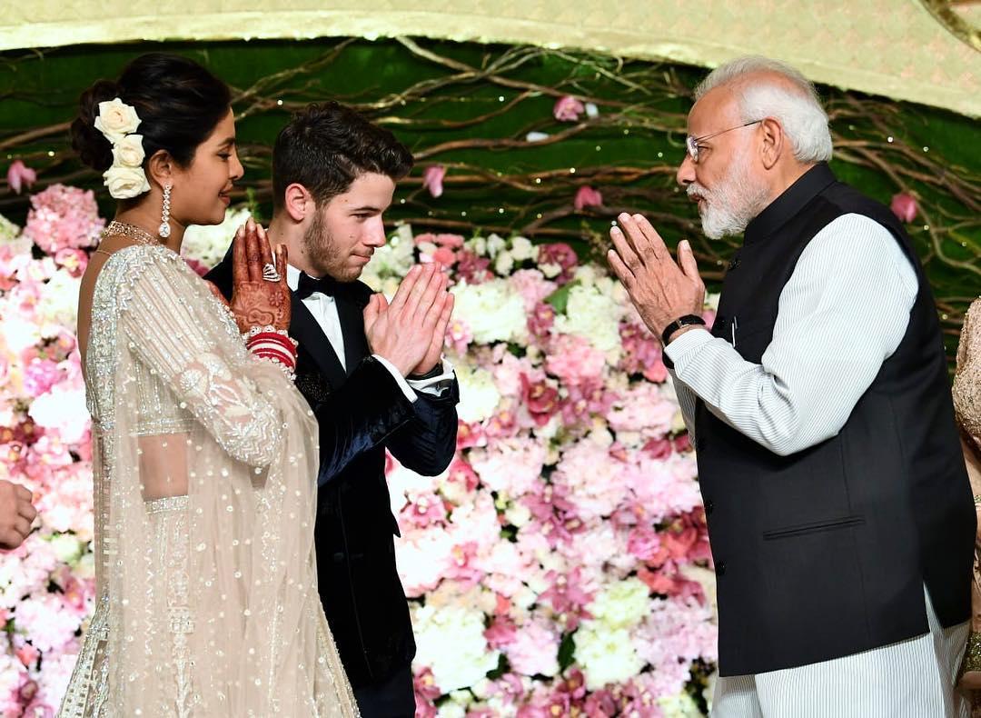 PM Modi at Priyanka Chopra and Nick Jonas' wedding reception in India