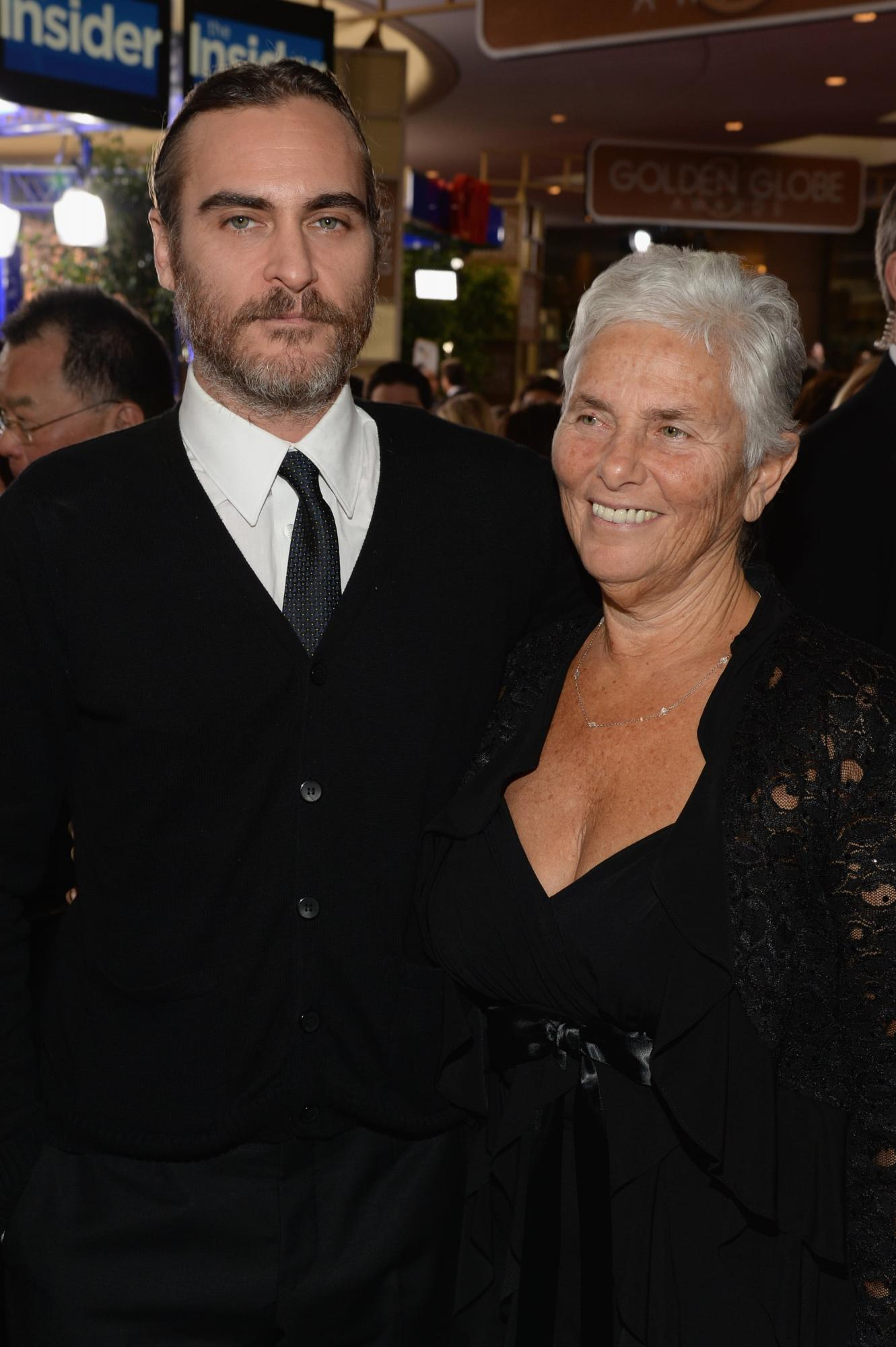 Joaquin Phoenix with his mother Arlyn Phoenix, commonly known as Heart Phoenix