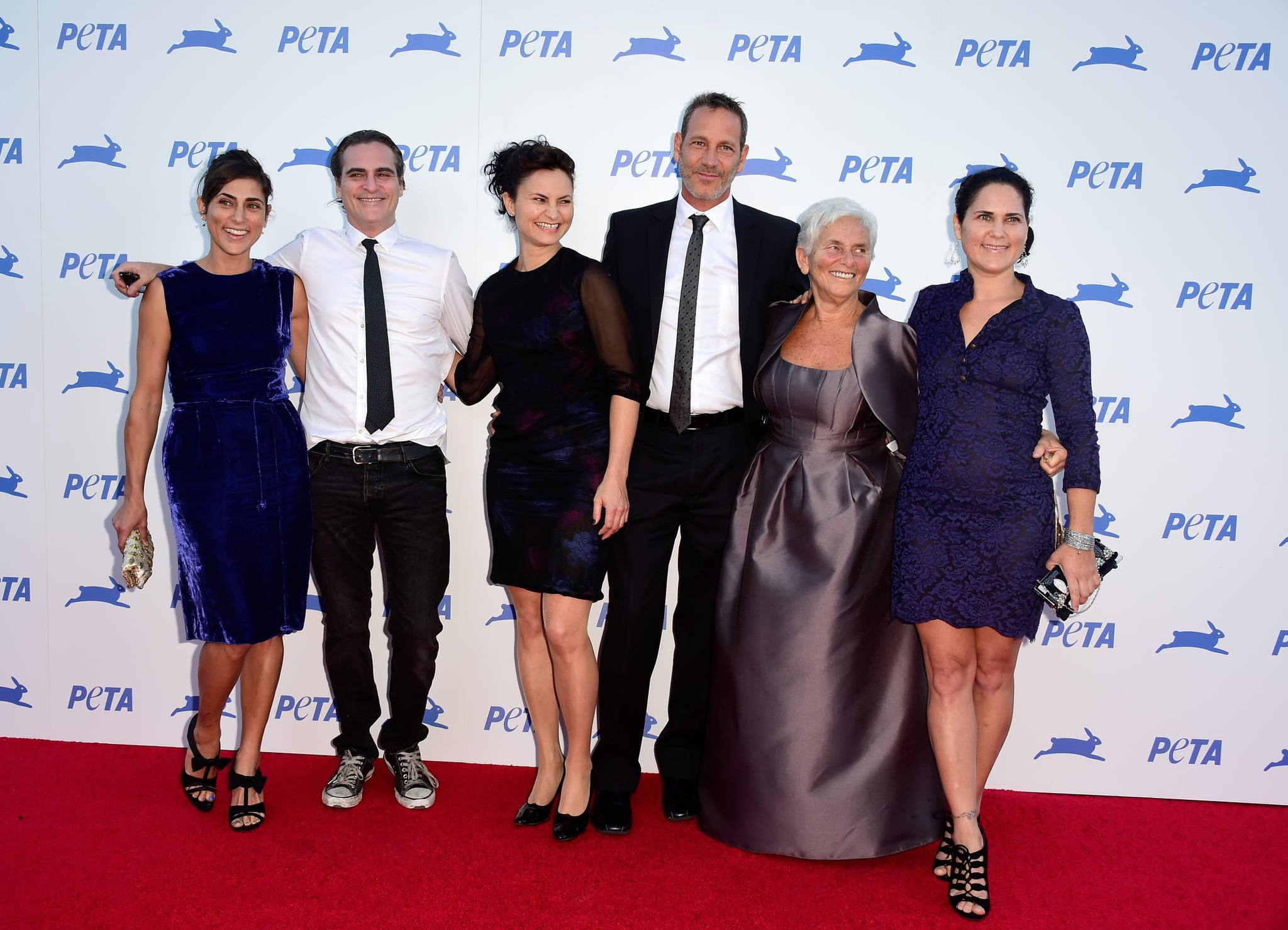 Joaquin Phoenix's family include mother Heart and siblings Rain, Liberty, Jeffery and Summer. Pictured alongside Phoenix's mother is Heart's husband Jeffrey Weisberg