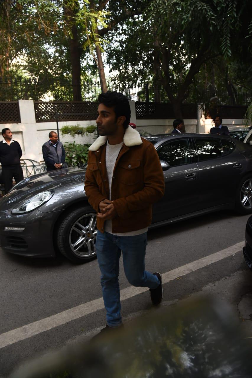 Armaan's brother Aadar Jain was also spotted at Ritu Nanda's house in Delhi