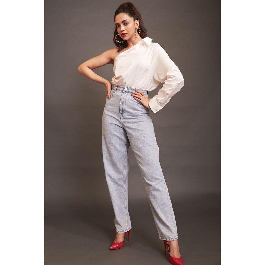 Deepika Padukone and Three Times She Slayed in a Denim and White Shirt Combo