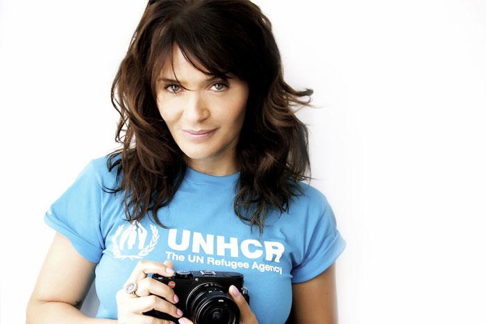 Danish model and photographer Helena Christensen