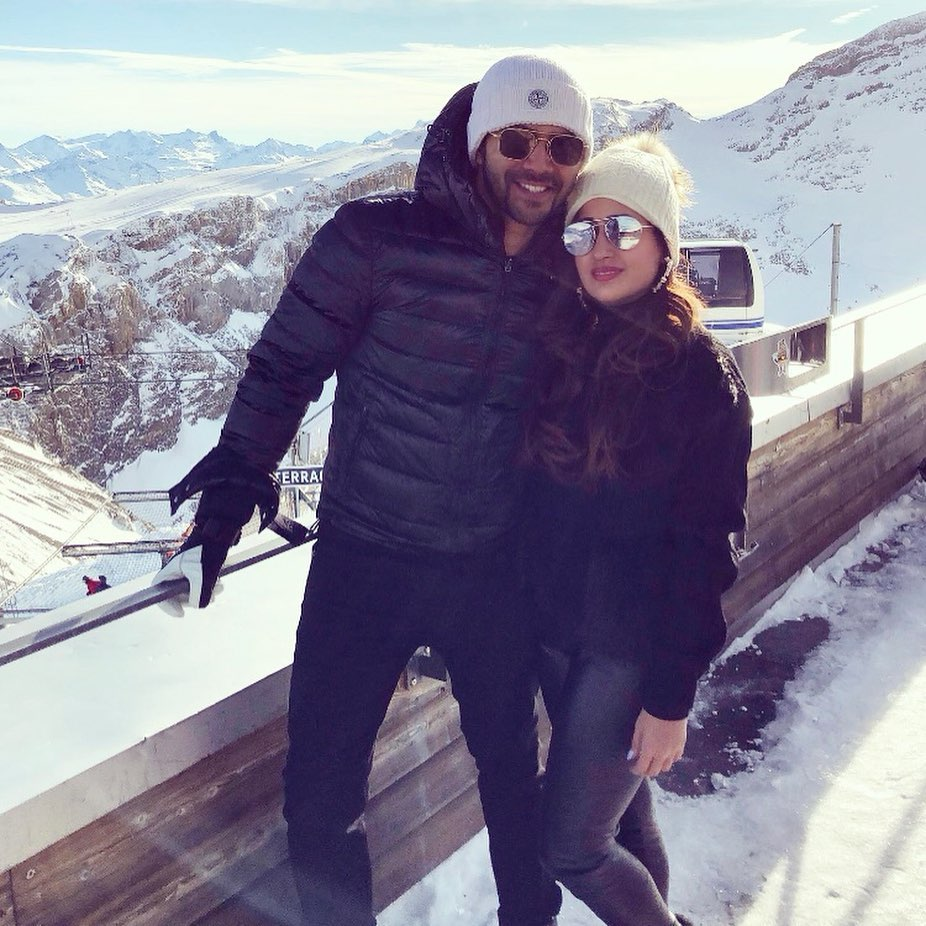 Varun Dhawan and his beau Natasha Dalal welcomed the New Year in Switzerland
