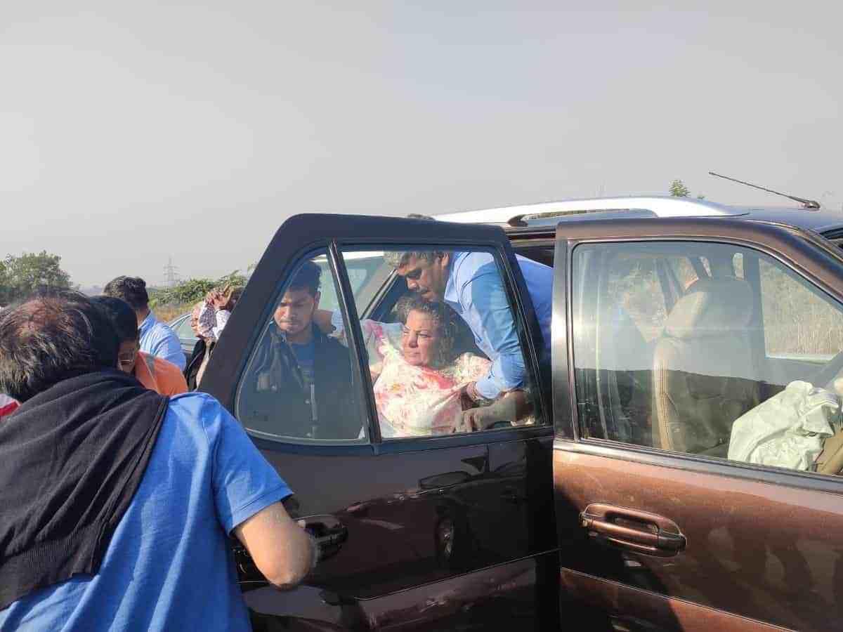 Shabana Azmi critically injured in a road accident