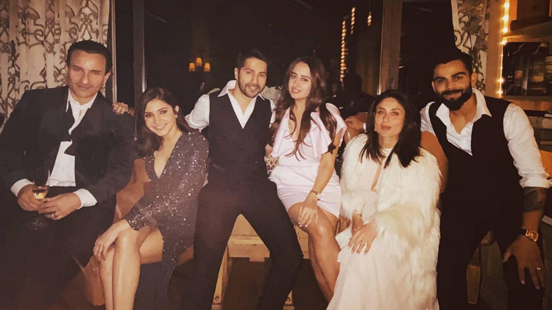 The couple rang in the New Year with Anushka Sharma and Virat Kohli and Kareena Kapoor Khan and Saif Ali Khan in Switzerland