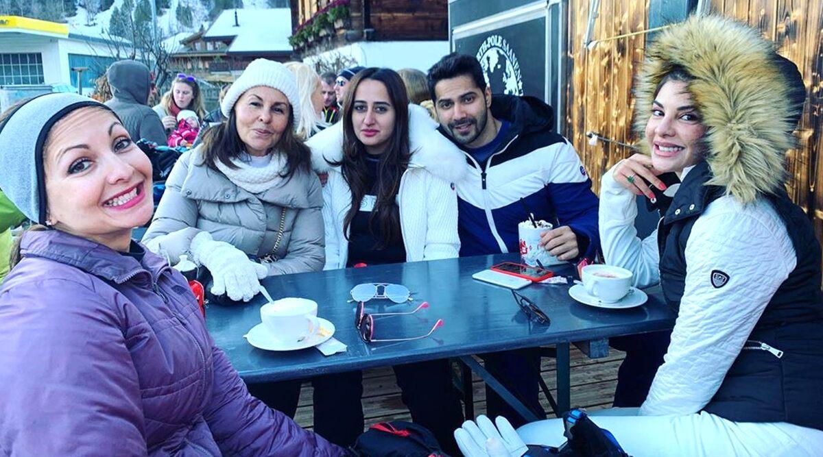 Varun Dhawan and Natasha Dalal get lunch with Jacqueline Fernandez in Switzerland