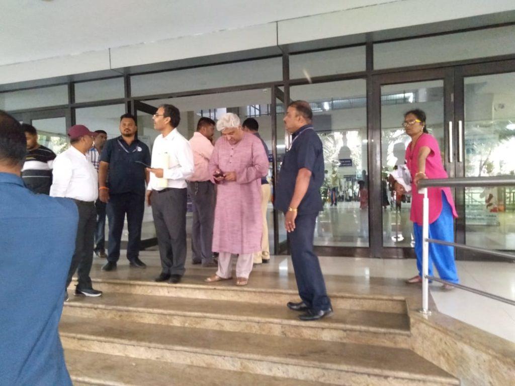 Javed Akhtar at the Kokilaben Dhirubhai Ambani hospital in Mumbai