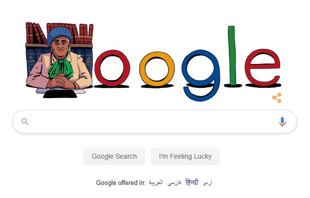 Mufidah Abdul Rahman's Google Doodle