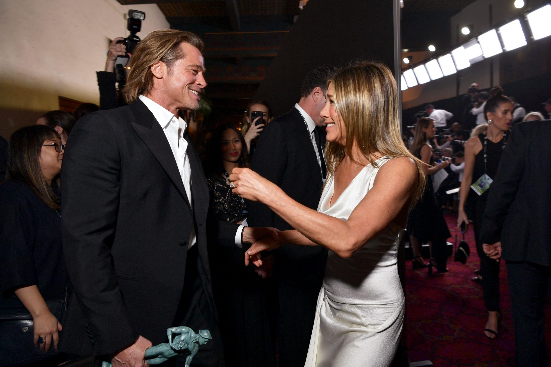 Brad Pitt and Jennifer Aniston at SAG Awards