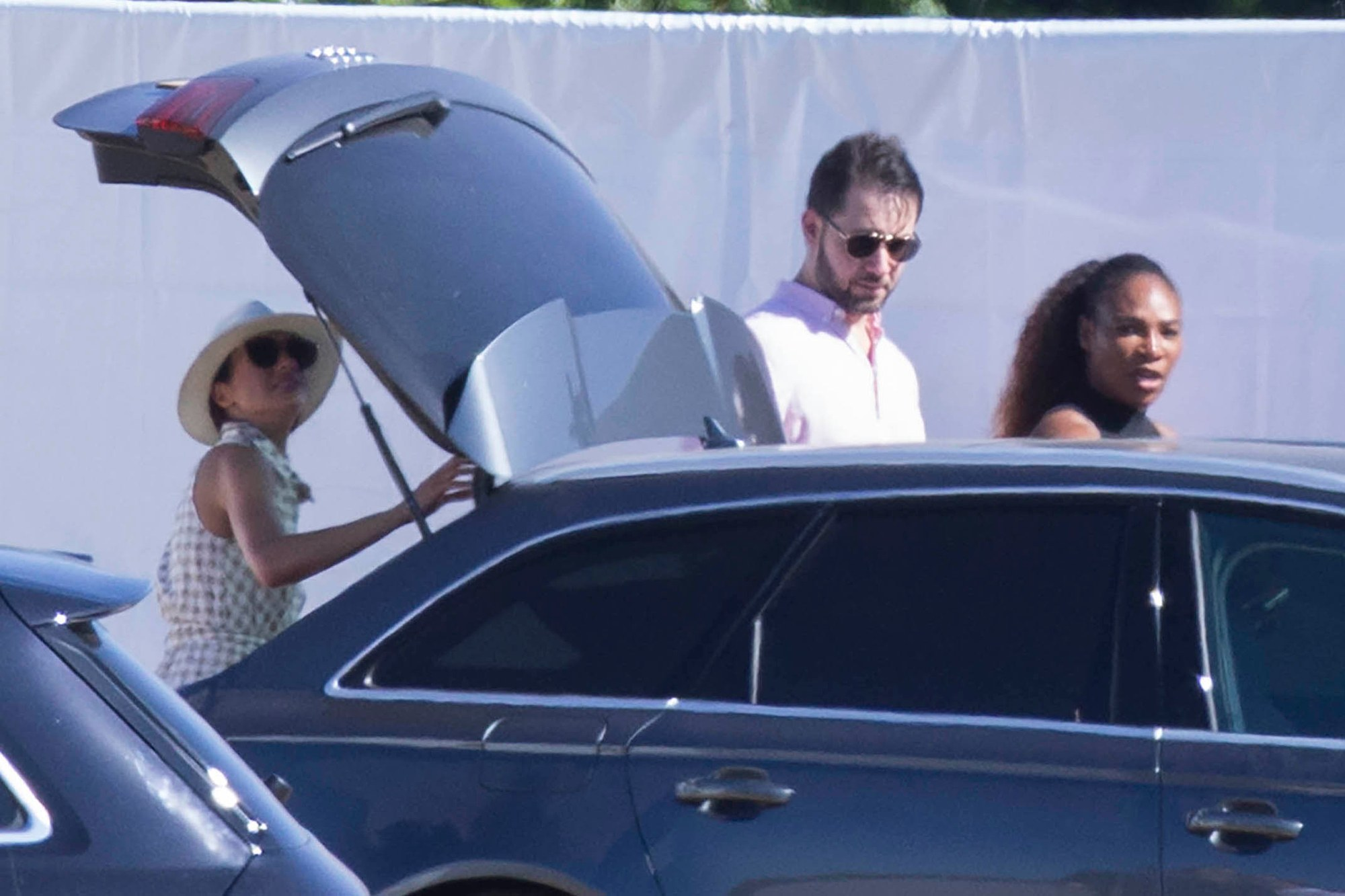 Meghan Markle, Serena Williams and her husband Alexis Ohanian all attended the Audi Polo Challenge in June, 2019