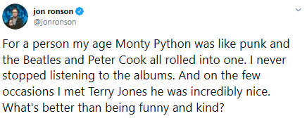 Monty Python Star Terry Jones Passes Away at 77: See Tributes
