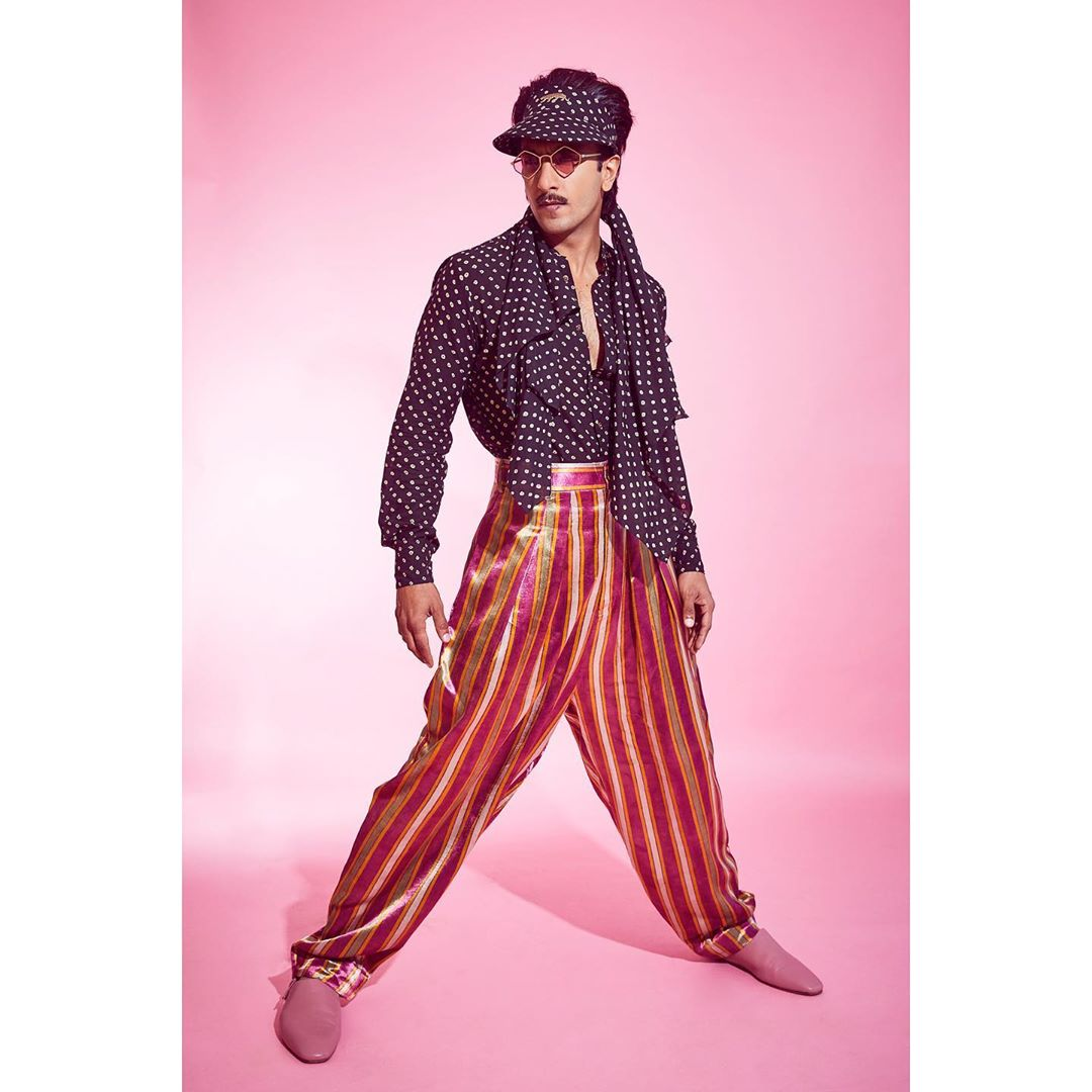 Ranveer Singh Takes his Eccentric Style up a Notch in Latest Retro Look