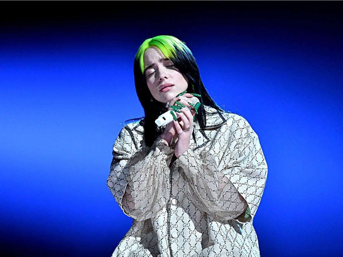 Billie Eilish at the Grammys 2020