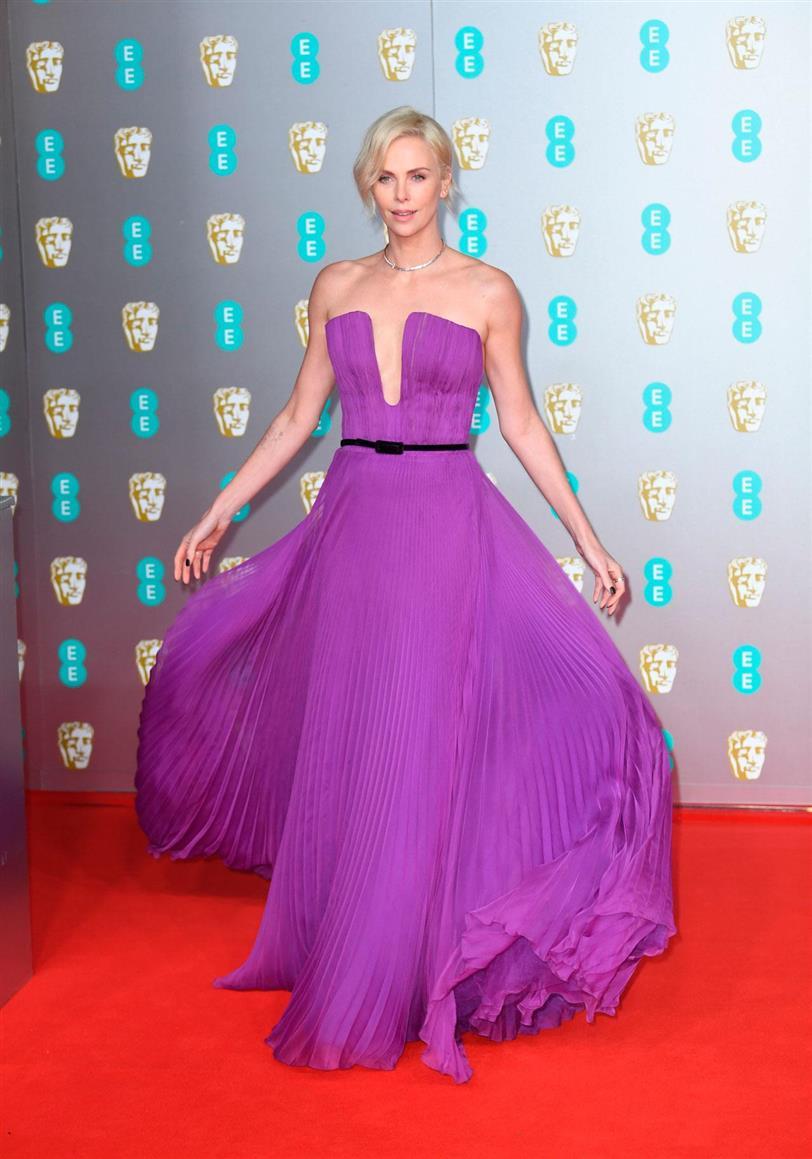 Charlize Theron at the BAFTAs