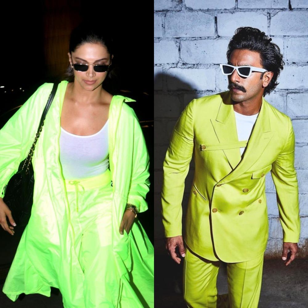 Deepika Padukone and Ranveer Singh slay in neon green