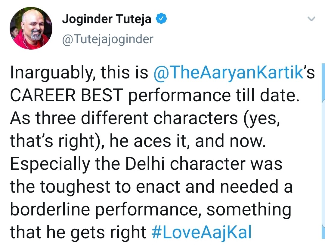 Love Aaj Kal Does Not Receive the Best Reviews From the Audiences