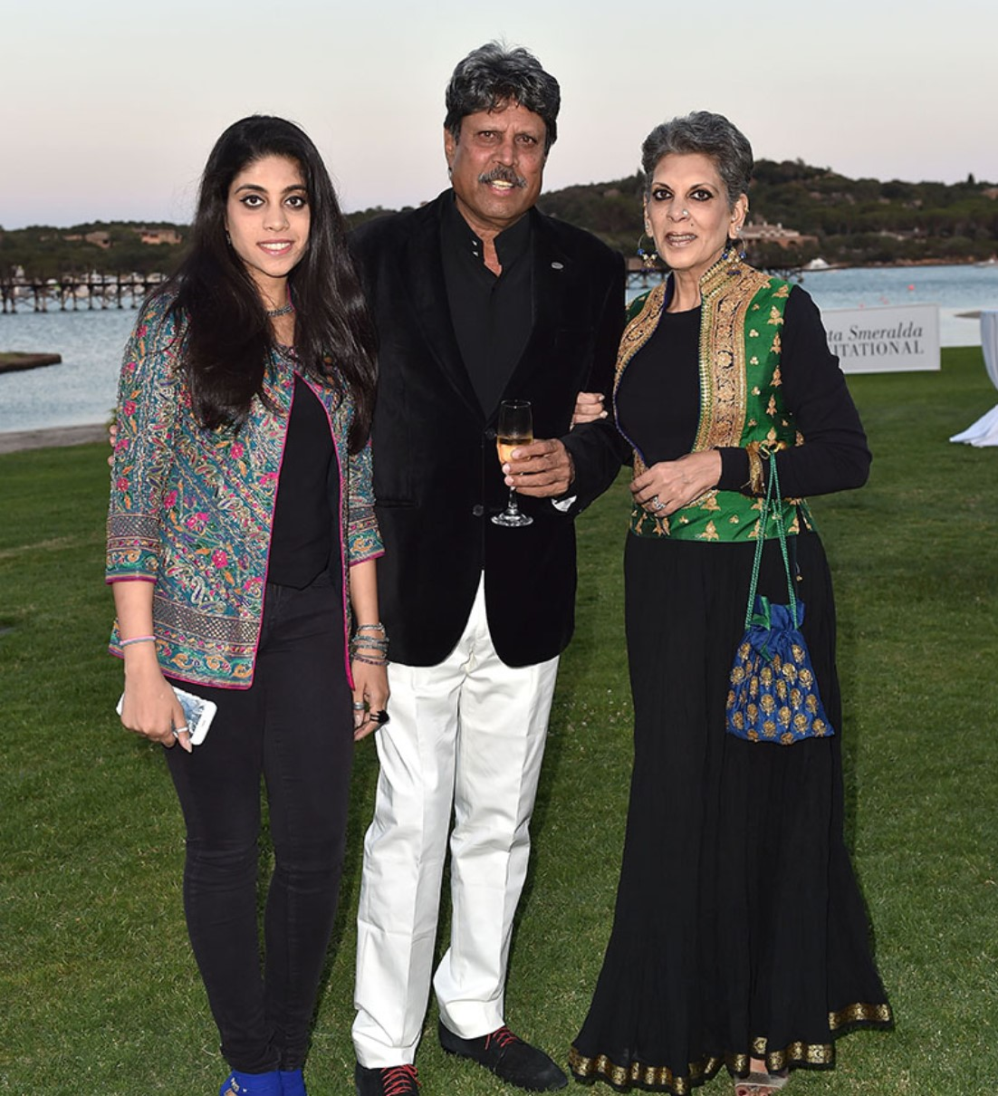 Kapil Dev and Romi Bhatia with their only daughter Aniya