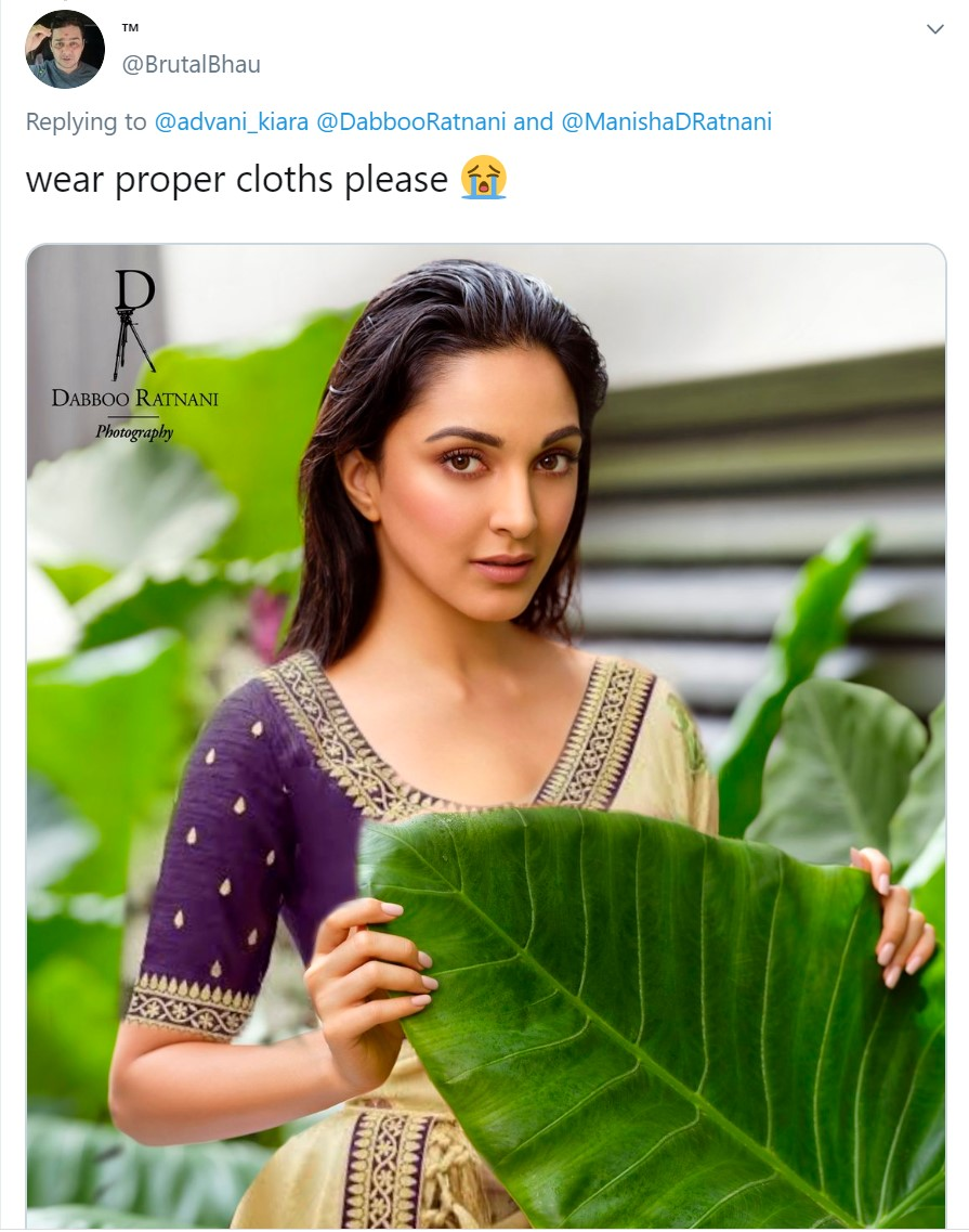 Here comes a sari this netizen would have wanted Kiara to wear