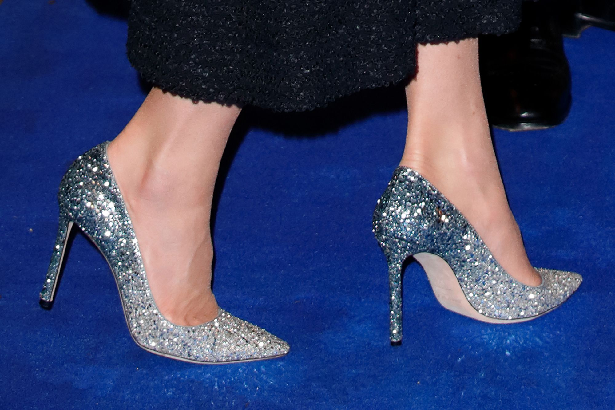 Kate Middleton Dazzles The Night Away In Tweed Dress And Sparkly Shoes