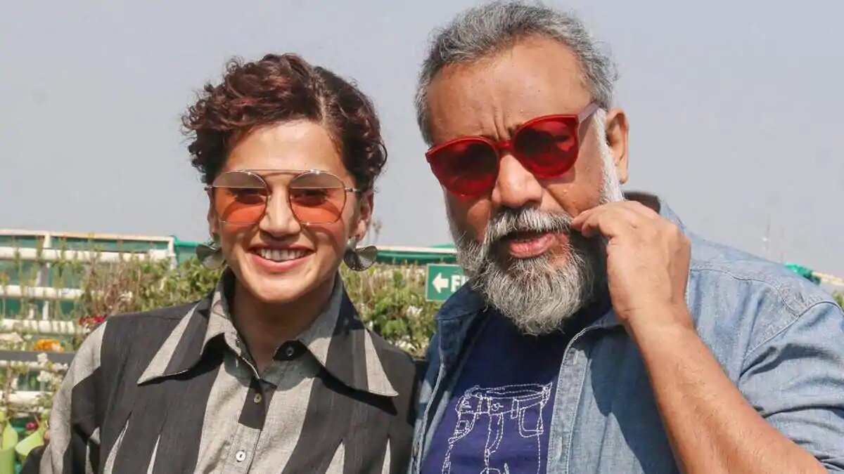 Taapsee Pannu with film director Anubhav Sinha
