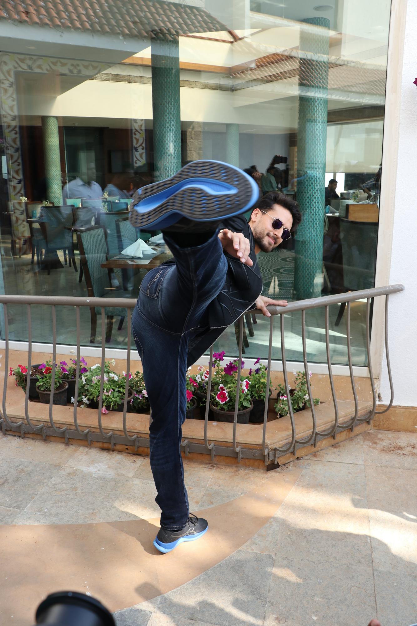Tiger Shroff promoting Baaghi 3 in Dubai