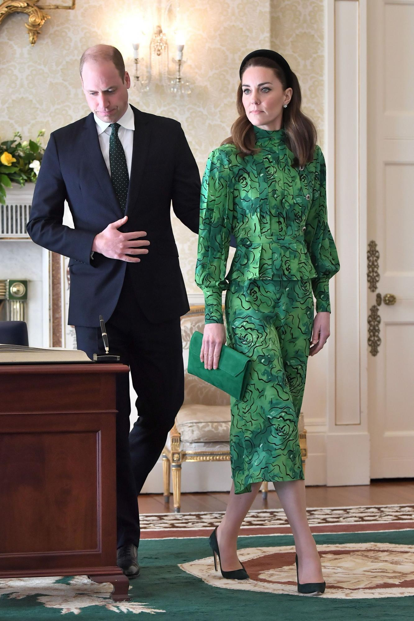 Prince William and Kate Middleton during the recent Ireland visit