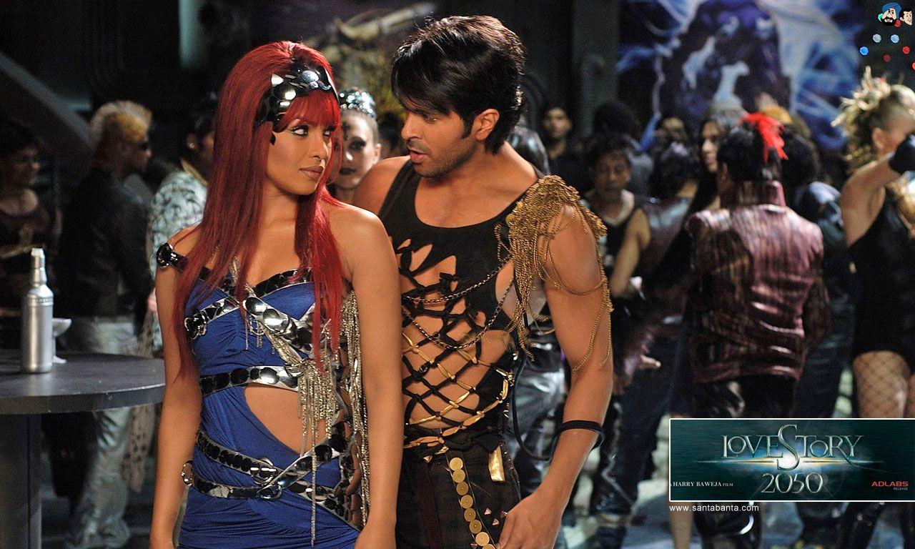 Harman Baweja and Priyanka Chopra in Love Story 2050