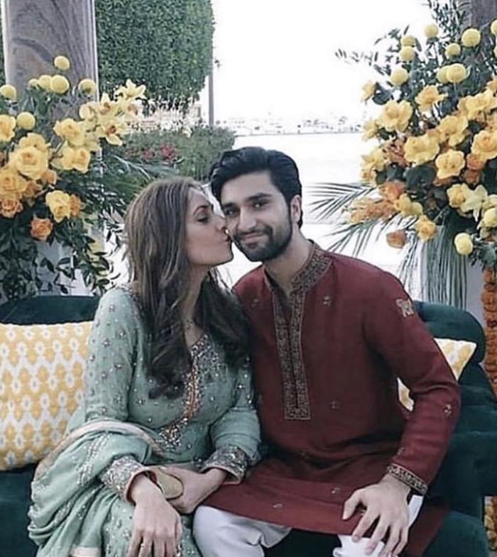 Ahad Raza Mir with Samra Mir, his mother