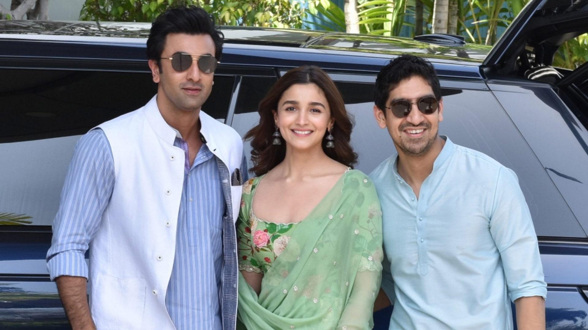 Ranbir Kapoor and Alia Bhatt at the Brahmāstra logo launch
