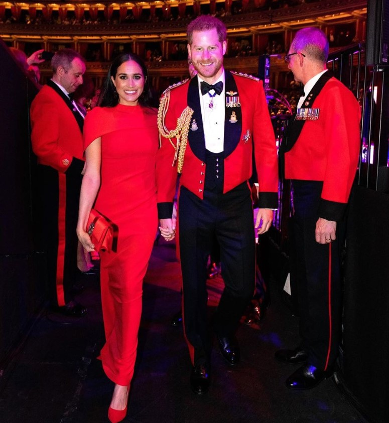 Prince Harry and Meghan Markle attended the annual Mountbatten Festival of Music in London