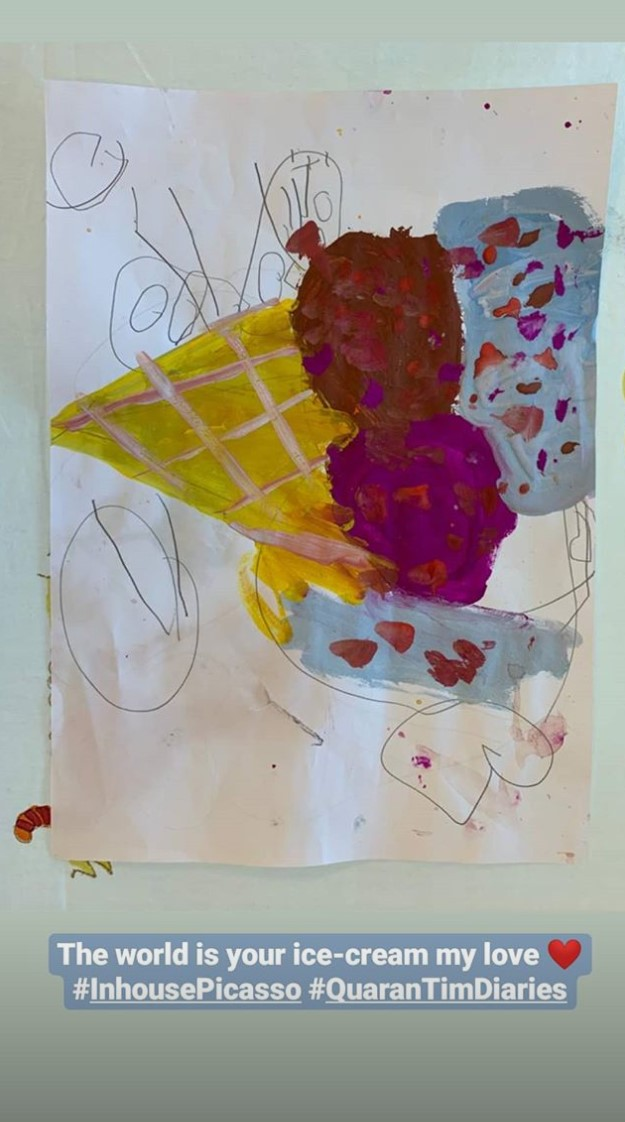 Taimur Ali Khan's Painting - Check it Out!