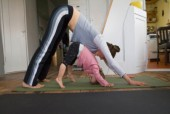 My son, aged three, keenly watches me while I do yoga. Is he old enough to do it himself? What would you recommend he start with? - Supriya Kewalramani