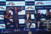 Shah Rukh Khan, Abhishek Bachchan, Farah Khan at the game launch of 'Happy New Year'