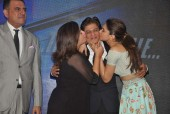 Shah Rukh Khan, Deepika Padukone and the Happy New Year Team Snapped at a Song Launch