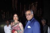 Sridevi, Boney and Rajkumar Hirani at Top Cop Rakesh Maria's Son's Wedding Bash