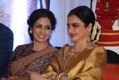 Sridevi's Warm Exchange With Mentor Rekha