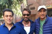 Salman Khan Catches Up with Ajay Devgn
