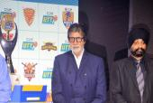Amitabh Bachchan and Abhishek Bachchan Attend the Ultimate Tennis Table Championship