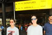 Star Spotting: BFFs Kareena-Amrita Twin at the Airport, Khushi Kapoor Spotted with a Friend and More!