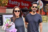 Star Spotting: Birthday girl Neha Dhupia-Angad Bedi Step Out for a Lunch Date, Anushka Sharma-Varun Dhawan Promote 'Sui Dhaaga' at the Airport and More!