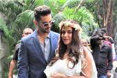 Neha Dhupia Glows At Her Baby Shower With Husband Angad Bedi!