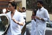 Veeru Devgn Demise: Shah Rukh Khan, Abhishek Bachchan With Aishwarya Rai Arrive at Ajay Devgn's Residence