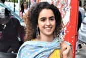 Sanya Malhotra Is The Ray Of Sunshine Amidst Mumbai Rains