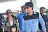 Shah Rukh, Gauri And Abram Khan Spotted At The Airport