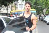 Tiger Shroff Greets the Paps While Out About Town