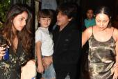 Shah Rukh Khan and the Rest of the Khan Clan Step Out for a Dinner Date in Style