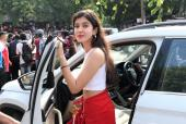 Shanaya Kapoor Dazzles in Bright Red and White Outfit